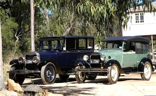 Graham Allum submitted these pictures of his 1923 Lincoln Type 129 and his 1928 Model A Ford AR Tourer & A picture Review of the Old Cars of Australia Australian cars markmcfarlin.com