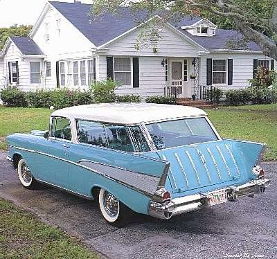 1957 Chevrolet Bel Air Nomad 2 Door Sport Wagon.