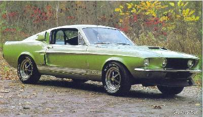 1967 ford mustang gta fastback coupe - 1967 Ford Mustang Coupe Green