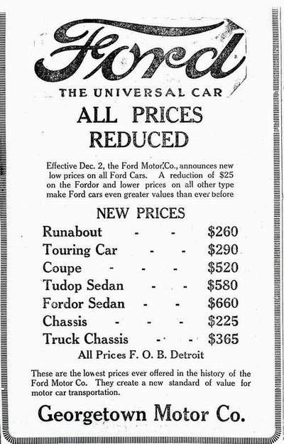 1925 Price List  sc 1 st  Johnu0027s Old Car and Truck Pictures & A Picture review of the Model T Ford markmcfarlin.com